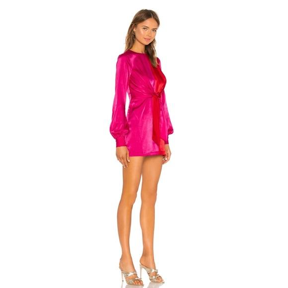 House Of Harlow x REVOLVE Lotta Dress in Red & Fuchsia Dress